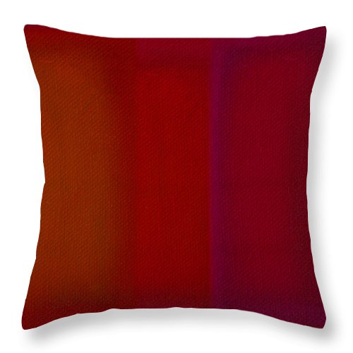 Rothko Throw Pillow featuring the painting Red by Charles Stuart