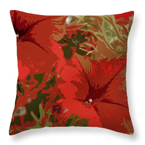 Flower Throw Pillow featuring the photograph Red Flowers by Jan Carr