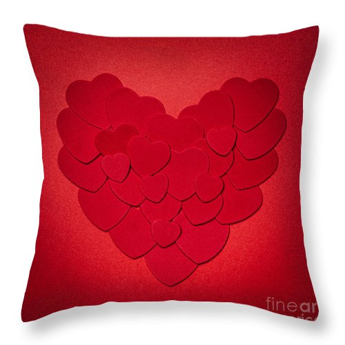 Heart Throw Pillow featuring the photograph Red Heart by Elena Elisseeva