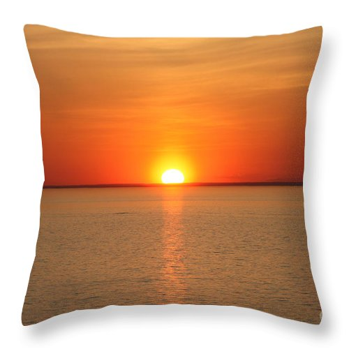 Red Hot Sunset Throw Pillow featuring the photograph Red-hot Sunset by John Telfer