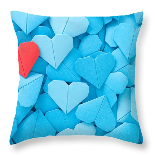 Art Throw Pillow featuring the photograph Red Paper Heart by Fotografiabasica