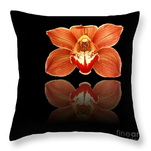 Art Throw Pillow featuring the photograph Red Reflection by Henrik Lehnerer
