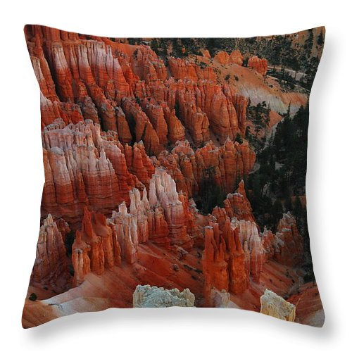 Red Throw Pillow featuring the photograph Red Rock by Jeff Swan