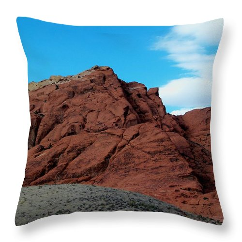 Red Rock Throw Pillow featuring the photograph Red Rock by Katie Beougher