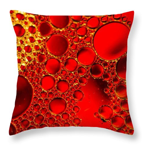 Macro Photograpy Throw Pillow featuring the photograph Red Ruby by Bruce Pritchett
