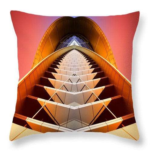 Abstract Throw Pillow featuring the photograph Red Shift by Wayne Sherriff