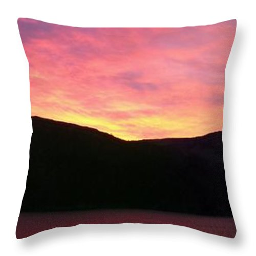 Barbara Griffin Throw Pillow featuring the photograph Red Sky At Morning Sailors Take Warning by Barbara Griffin