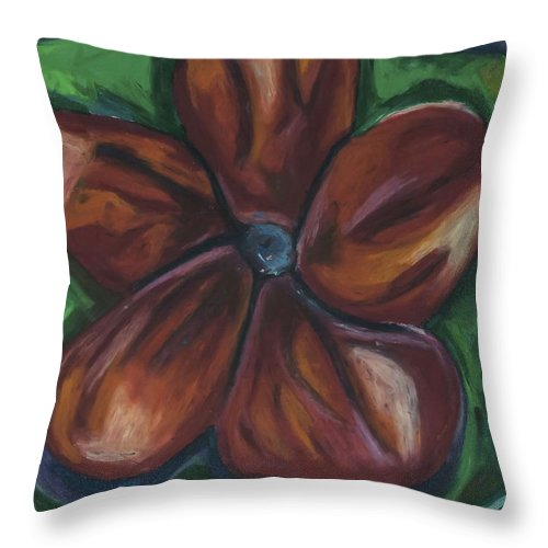 Fresh Flower Throw Pillow featuring the pastel Red Starburst by Jon Kittleson