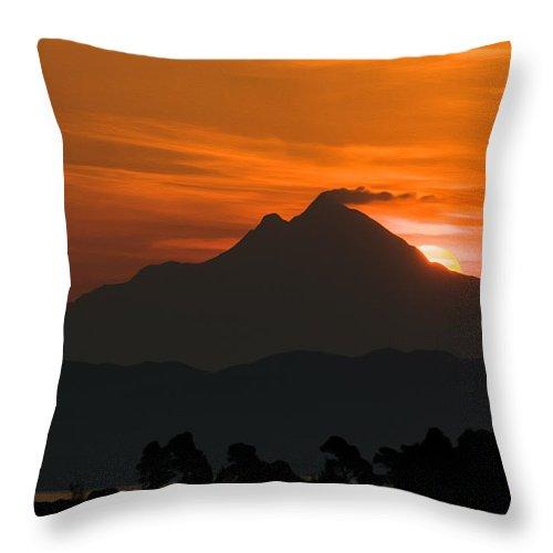 Greece Throw Pillow featuring the digital art Red Sunrise by Roy Pedersen