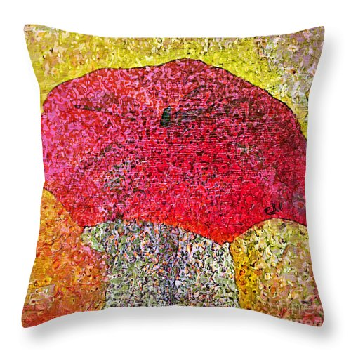 Umbrella Throw Pillow featuring the photograph Red Umbrella by Claire Bull