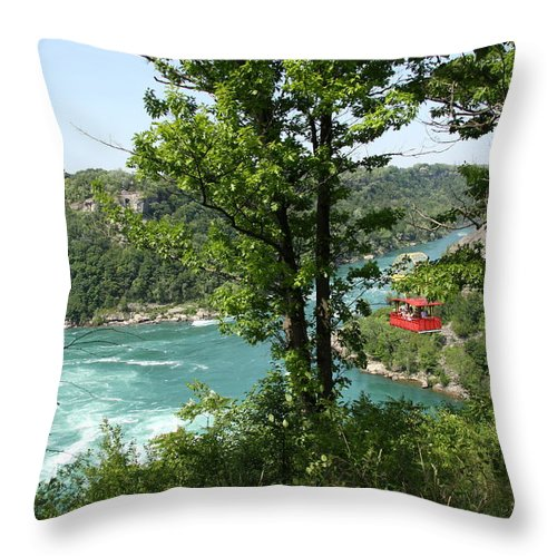 Whirlpool Aero Car Throw Pillow featuring the photograph Red Whirlpool Aero Car by Christiane Schulze Art And Photography
