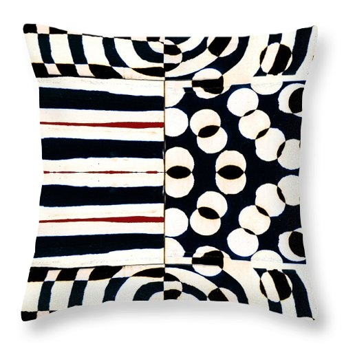 Red Throw Pillow featuring the photograph Red White Black Number 1 by Carol Leigh