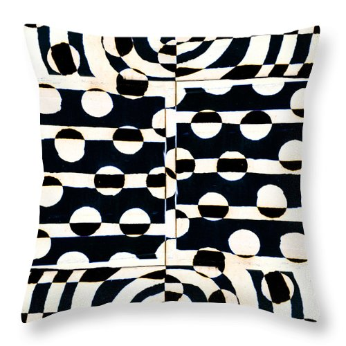 Red Throw Pillow featuring the photograph Red White Black Number 3 by Carol Leigh