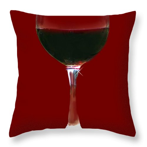 Wine Throw Pillow featuring the photograph Red Wine by Stephanie Laird