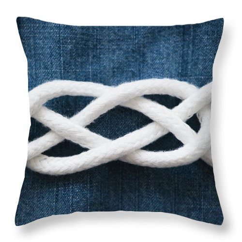 Security Throw Pillow featuring the photograph Reef Knot by Jamie Grill