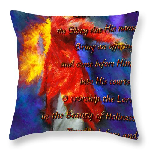 Prophetic Artwork Throw Pillow featuring the photograph Refiners Fire Dance by Constance Woods