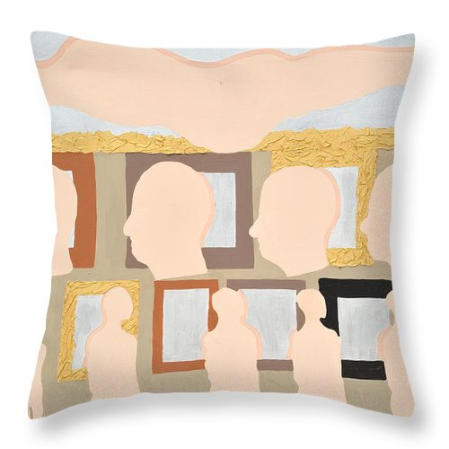 Mirror Throw Pillow featuring the painting Reflected by Erika Chamberlin