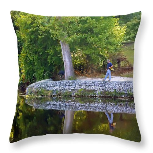 2d Throw Pillow featuring the photograph Reflecting by Brian Wallace