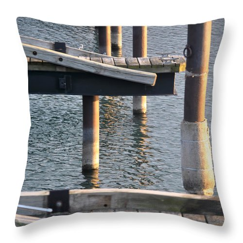 Water Throw Pillow featuring the photograph Reflecting Repetitions V2 by Michael Frank Jr