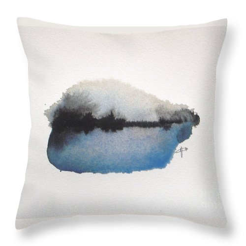 Abstract Throw Pillow featuring the painting Reflection in the lake by Vesna Antic