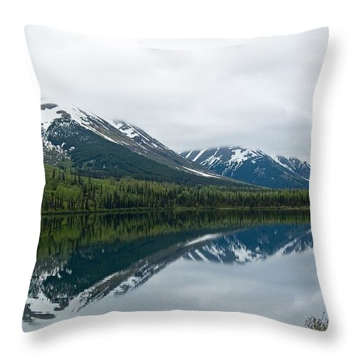 Montana Throw Pillow featuring the photograph Reflection Montana by Jeffrey Akerson
