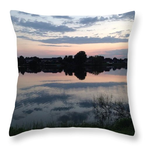 Nature Throw Pillow featuring the photograph Reflection by Jennifer Monroe