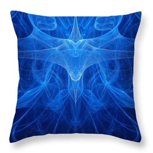 Blue Throw Pillow featuring the digital art Reflection by Vitaliy Gladkiy