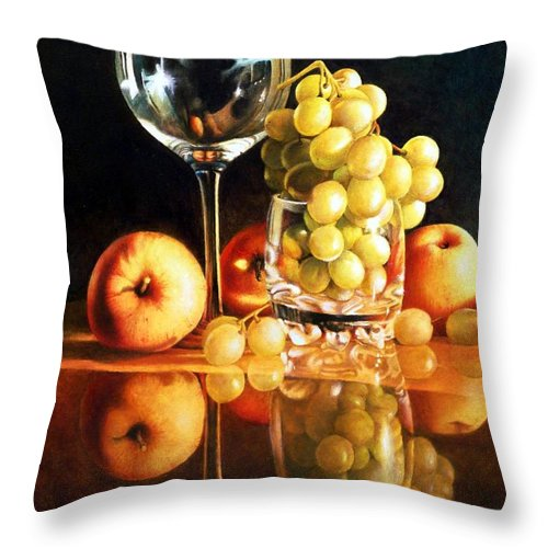 Giuseppe Mariotti Throw Pillow featuring the painting Reflections by Giuseppe Mariotti