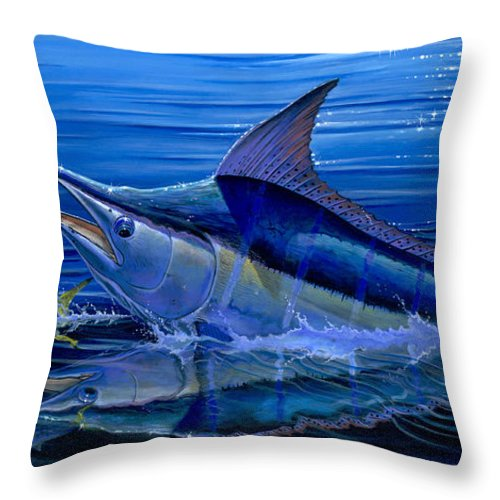 Marlin Throw Pillow featuring the painting Reflections Off0058 by Carey Chen