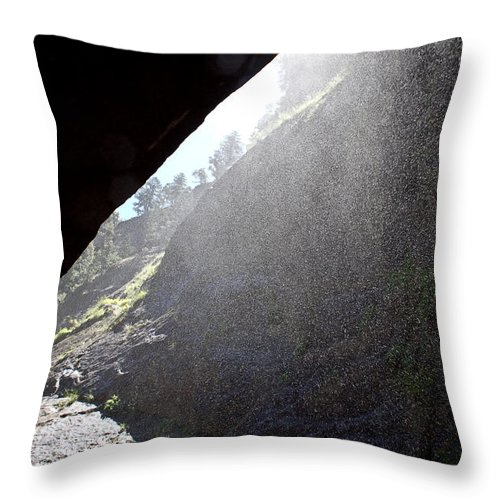 Outdoors Throw Pillow featuring the photograph Refreshing Tunnel by Brian Williamson
