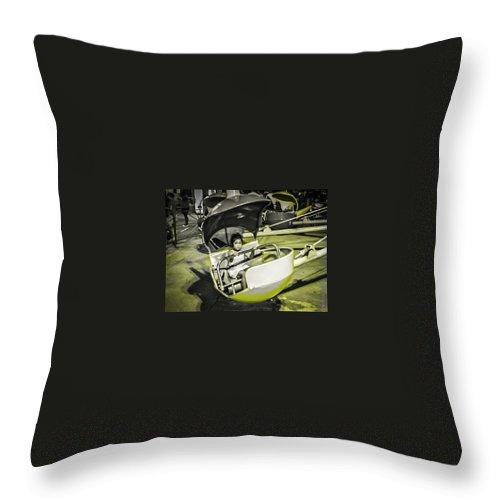 Rehoboth Beach Throw Pillow featuring the photograph Rehoboth Amusement Girl by John Jack