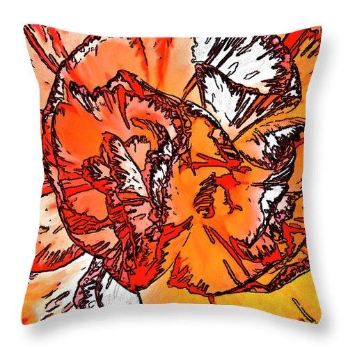 Flower Throw Pillow featuring the photograph Reincarnation by Steve Harrington