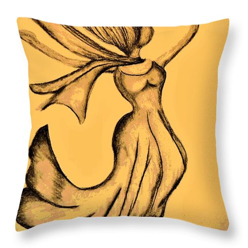 Rejoicing Throw Pillow featuring the digital art Rejoicing by Maria Urso