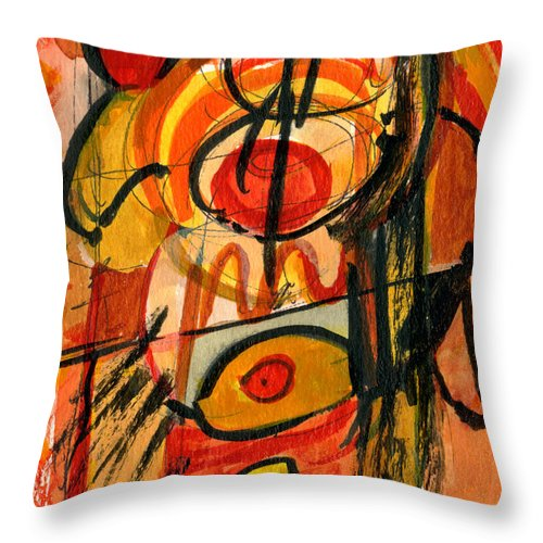 Abstract Art Throw Pillow featuring the painting Relativity by Stephen Lucas
