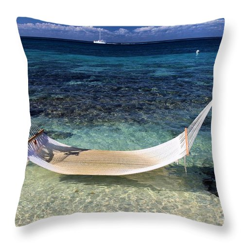 Beach Hammock Throw Pillow featuring the photograph Relaxation by Adam Jewell