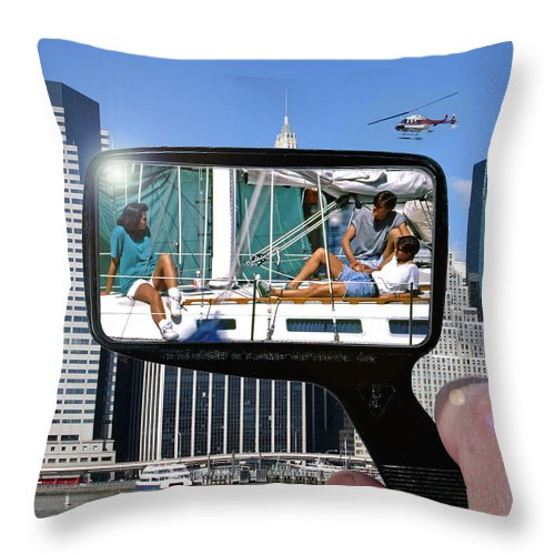 New York Throw Pillow featuring the photograph Relaxation Ny Style by Christopher McKenzie