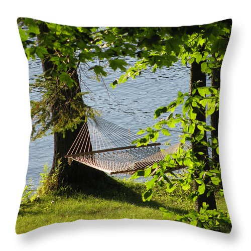 Summer Throw Pillow featuring the photograph Relaxation by Nancie Johnson
