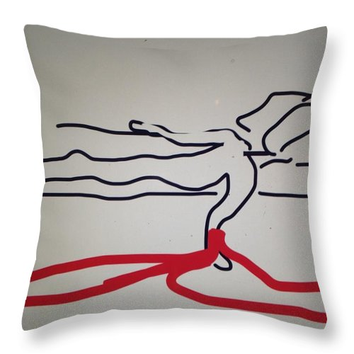 Throw Pillow featuring the digital art Release by Erika Chamberlin