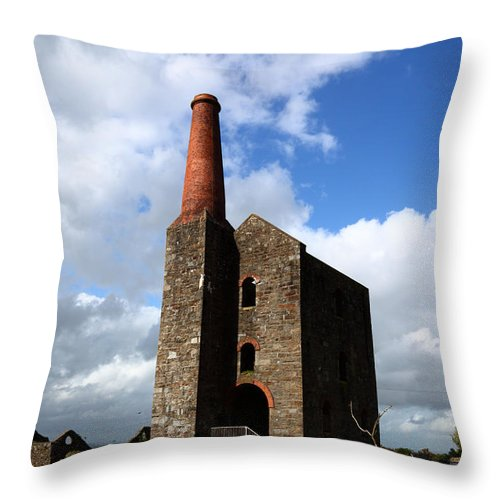 Bodmin Moor Throw Pillow featuring the photograph Remains Of Phoenix United Mine Cornwall by James Brunker