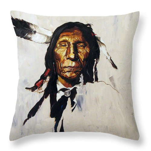 Southwest Art Throw Pillow featuring the painting Remember by J W Baker