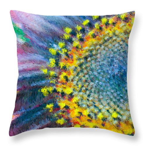 Yellow Throw Pillow featuring the photograph Remembering You by Heidi Smith