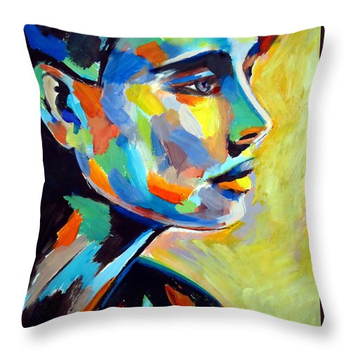Contemporary Art Throw Pillow featuring the painting Remembrance by Helena Wierzbicki