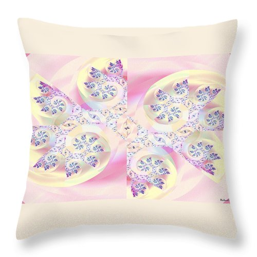 Digital Throw Pillow featuring the digital art Remembrance by Richard Kelly