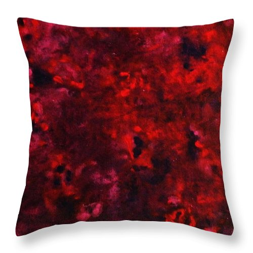 Acrylic Throw Pillow featuring the painting Remembrance by Todd Hoover