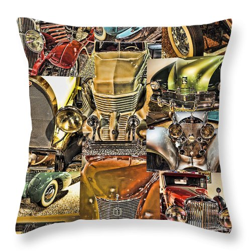 Reno Throw Pillow featuring the digital art Reno Auto Museum 2 by John Saunders