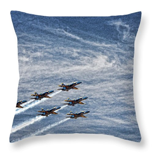 Reno Throw Pillow featuring the digital art Reno Races 2 by John Saunders