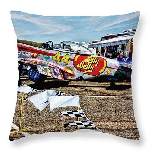 Reno Throw Pillow featuring the digital art Reno Races 6 by John Saunders