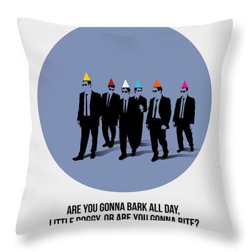 Reservoir Dogs Throw Pillow featuring the painting Reservoir Dogs Poster by Naxart Studio