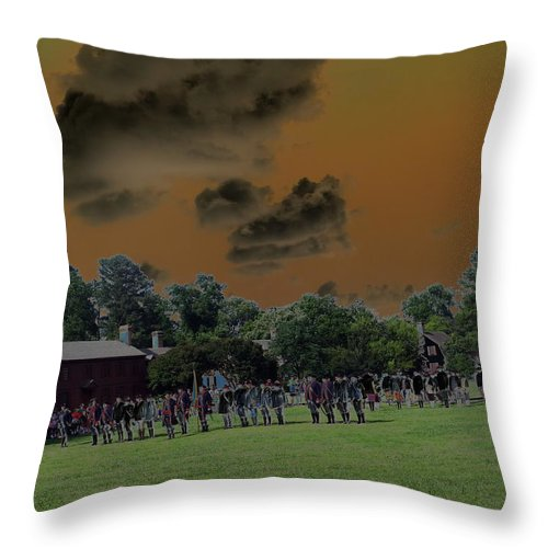Action Throw Pillow featuring the digital art Reset To Action by Barkley Simpson