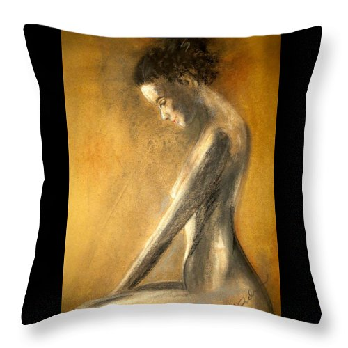 Female Throw Pillow featuring the painting Resolved Again by C Pichura